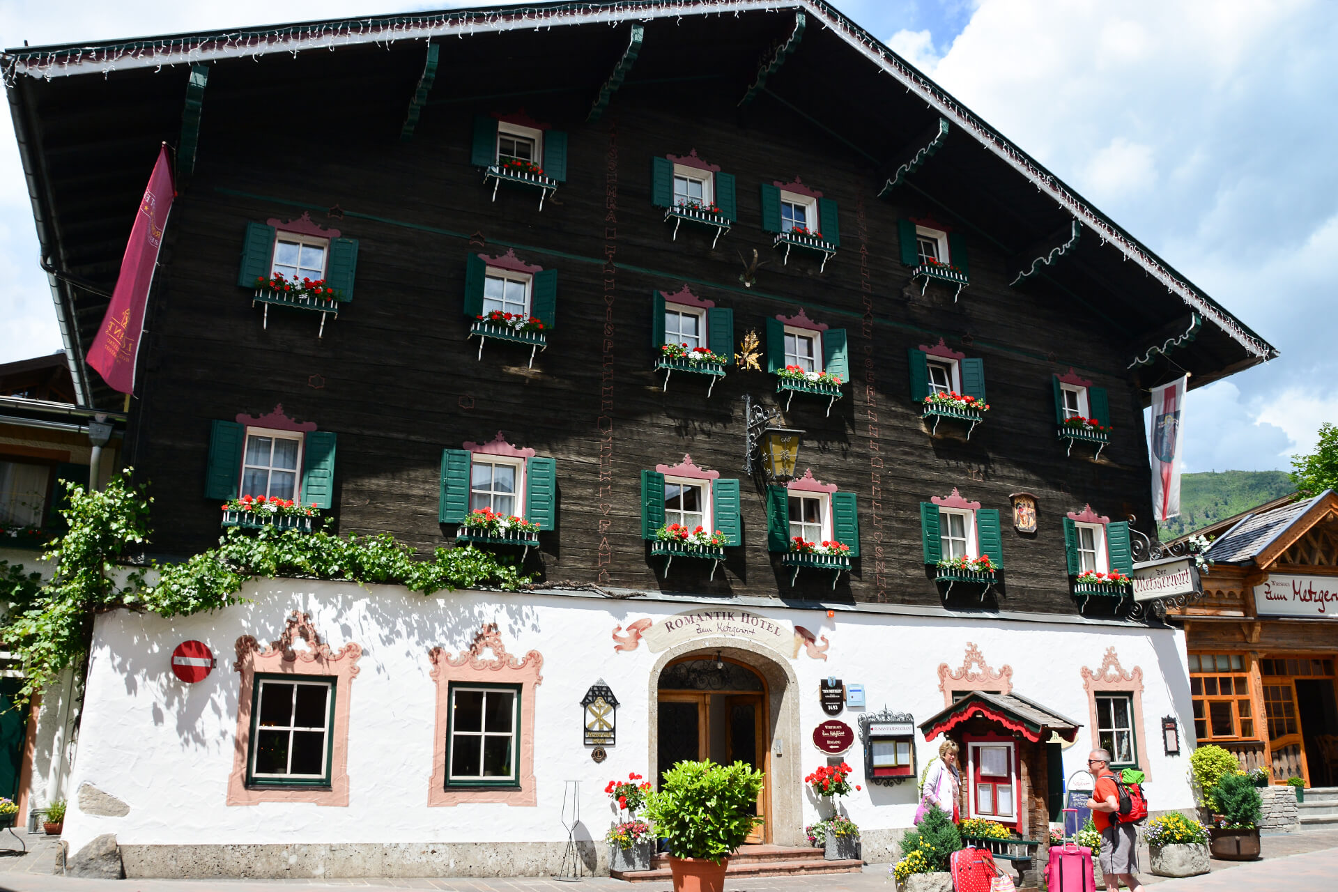 Bemaltes Haus in Zell am See